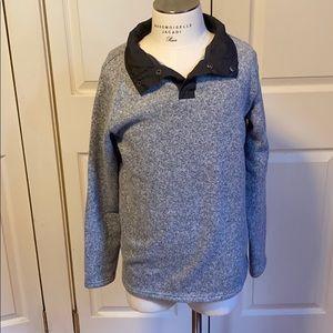 Lands' End 1/4 zip snap neck sweater